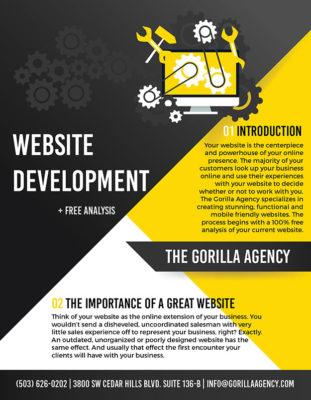 Website Development + Free Analysis Brochure | The Gorilla Agency